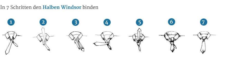 Krawattenknoten-Halber-Windsor