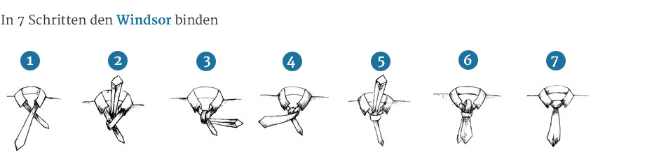 Krawattenknoten-Windsor