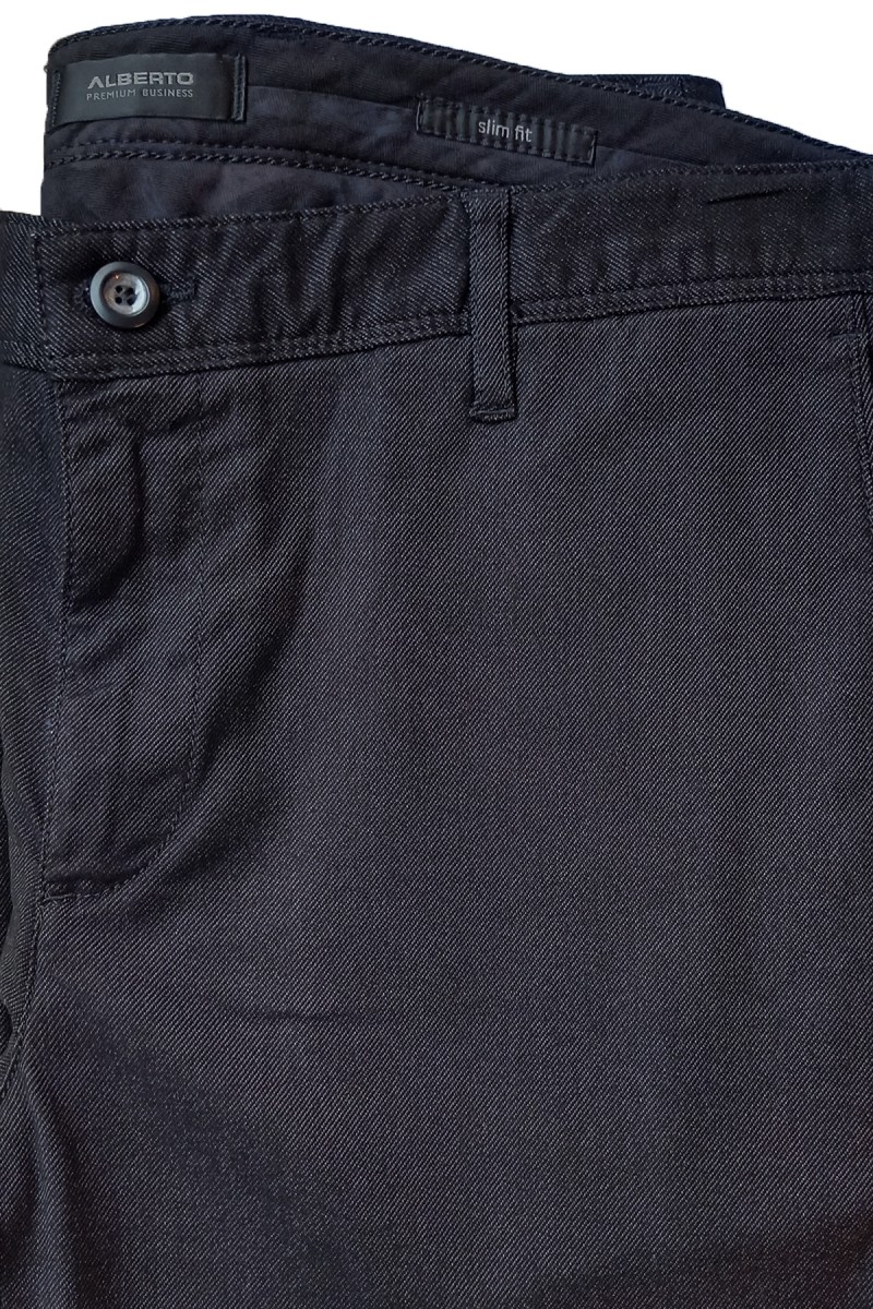 Alberto Chino Rob - DS Soft Twill slim fit schwarz