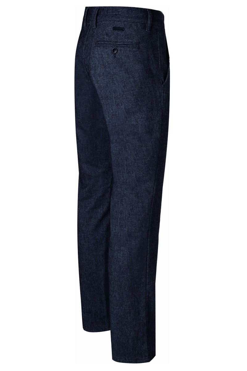 Alberto Chino Struktur Lou regular slim fit nachtblau