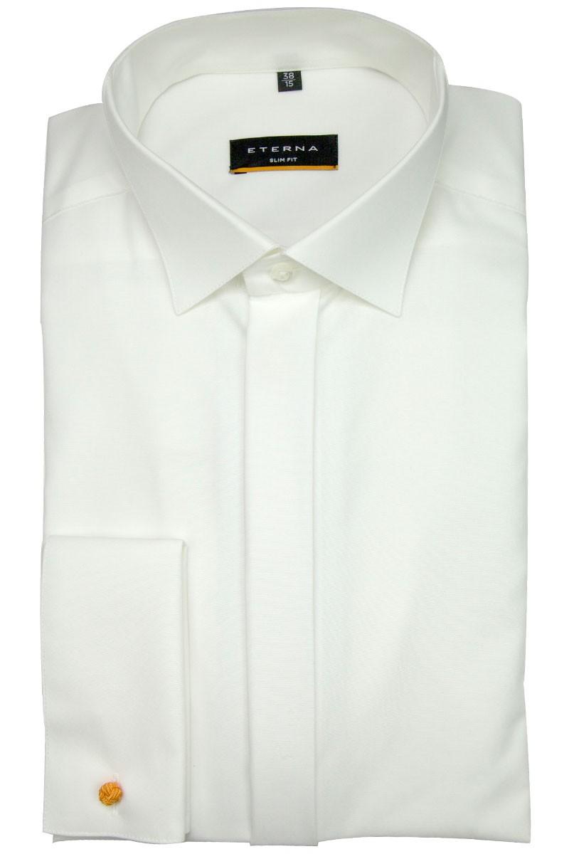eterna eterna hemd slim fit kl ppchen kragen mit umschlagmanschette creme 8500. Black Bedroom Furniture Sets. Home Design Ideas