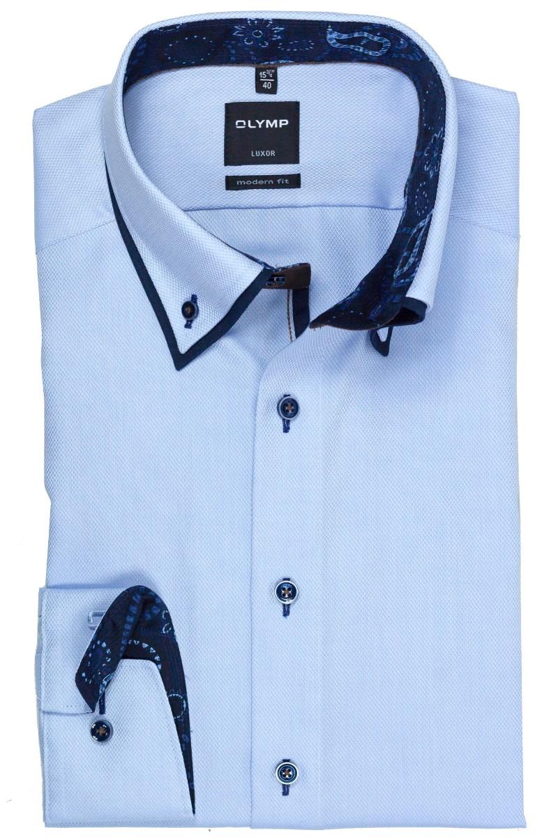 olymp luxor modern fit hemd doppelkragen button down wei. Black Bedroom Furniture Sets. Home Design Ideas