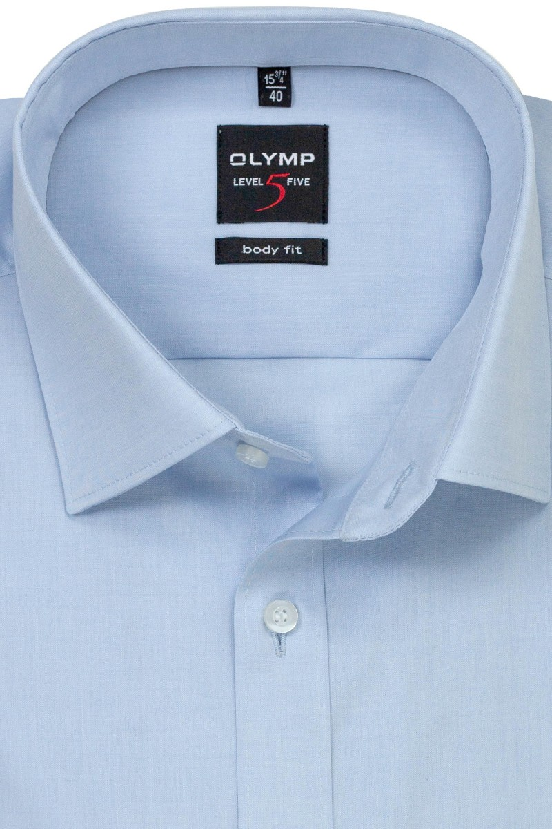 OLYMP Level Five body fit Hemd New York Kent Chambray sky