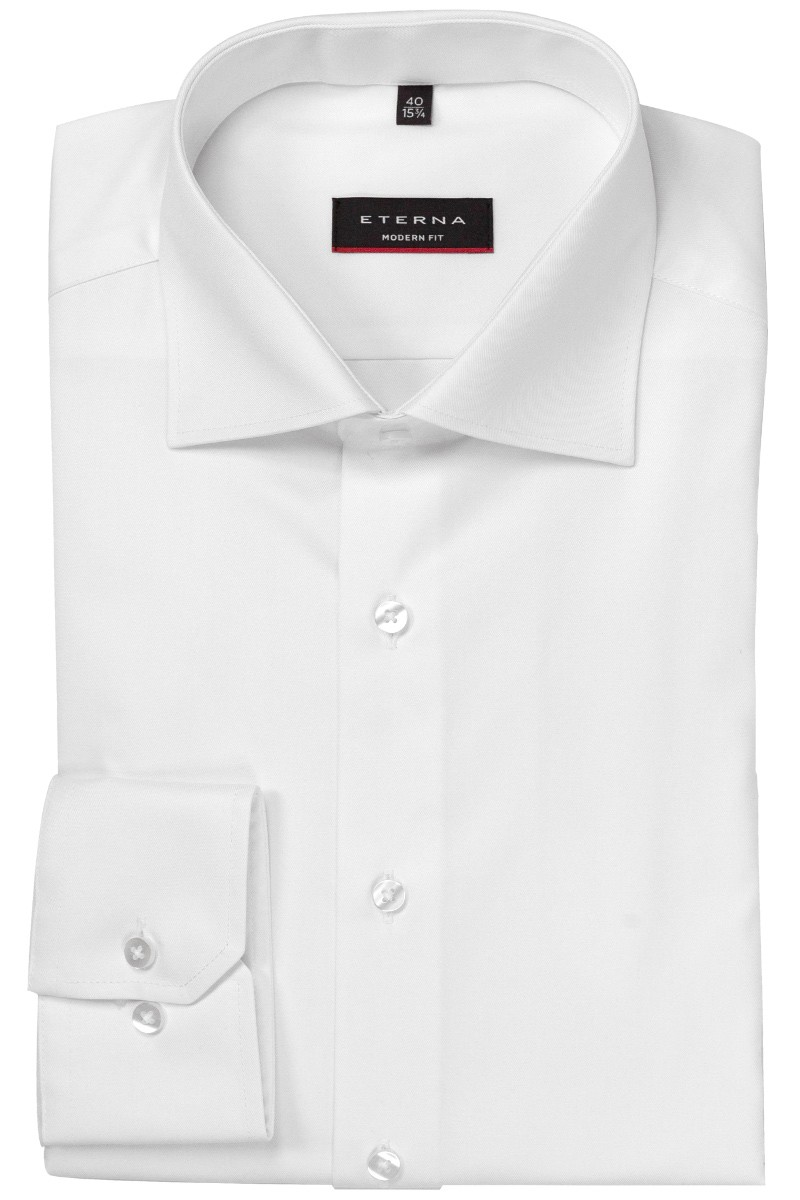 Eterna Cover Shirt 68er-Arm modern fit Kent weiß