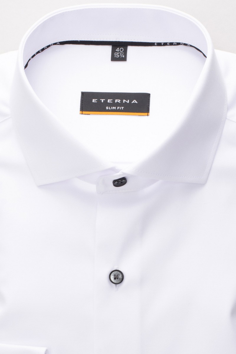 Eterna Cover Shirt 72er-Arm slim fit Haifisch in weiß