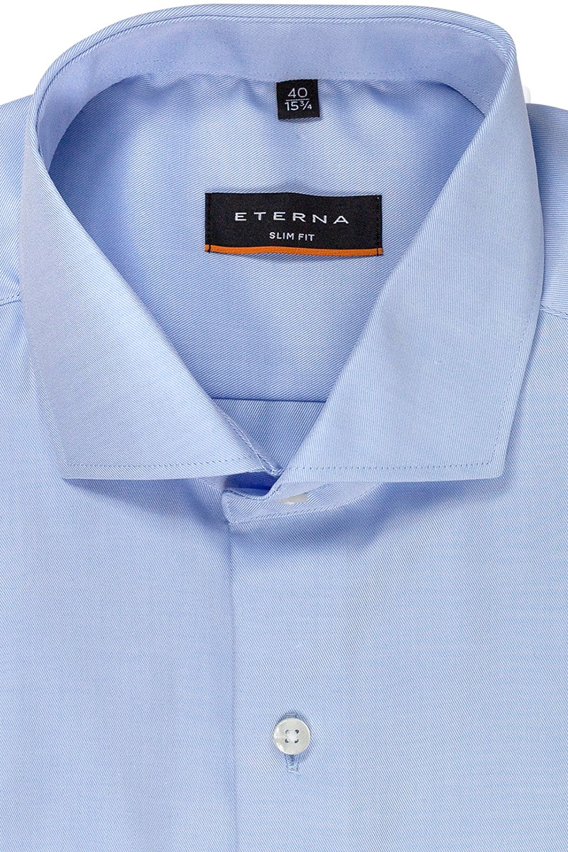 Eterna Cover Shirt 72er-Arm slim fit Haifisch Twill bleu