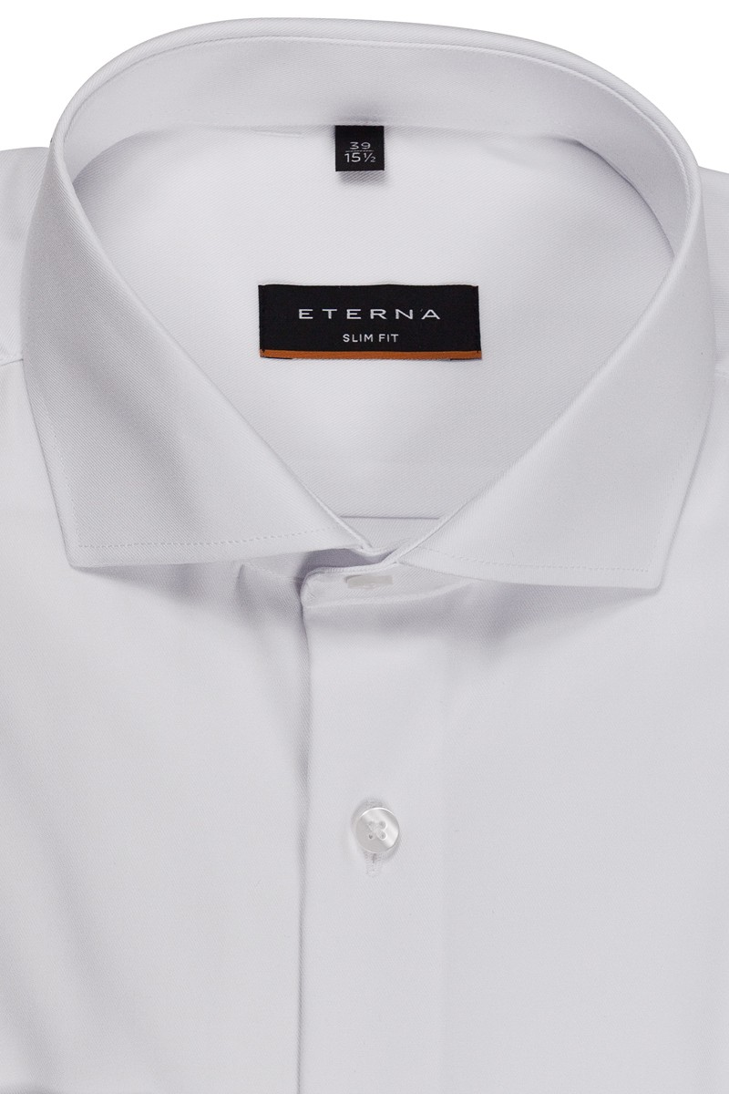 Eterna Cover Shirt slim fit Haifisch weiß