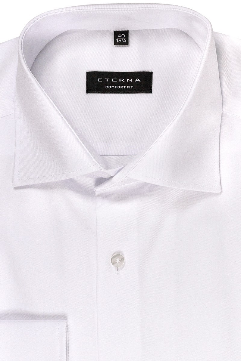 Eterna Cover Shirt 72er-Arm comfort fit Kent in weiß