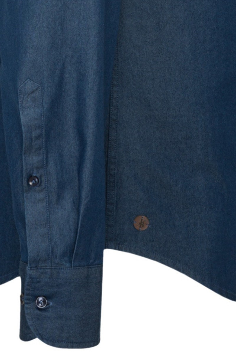 Jacques Britt Smart Casual Hemd perfect fit Denim blau