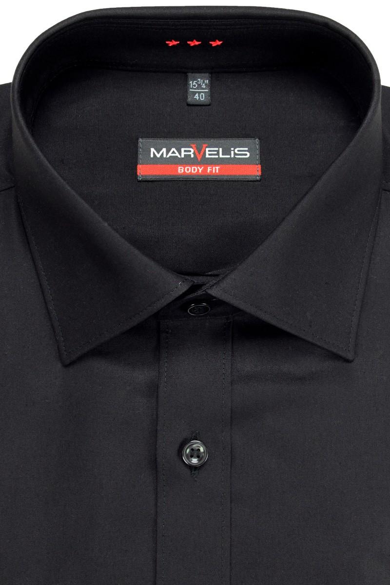marvelis marvelis body fit hemd new york kent mit teilungsnaht schwarz 679864. Black Bedroom Furniture Sets. Home Design Ideas