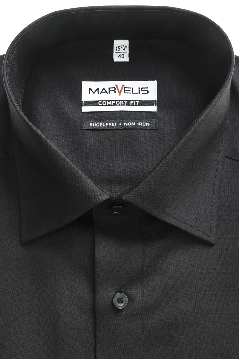 Marvelis comfort fit Hemd New Kent schwarz
