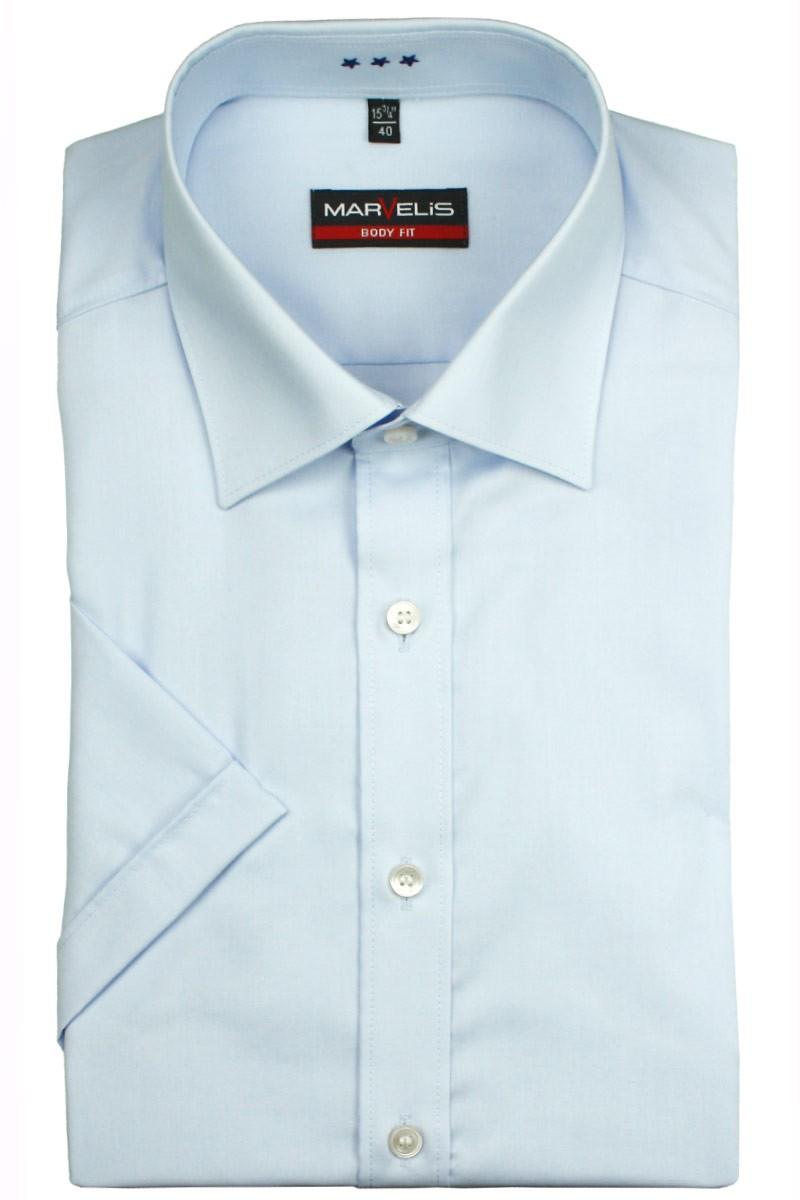 marvelis marvelis body fit kurzarm hemd new york kent bleu. Black Bedroom Furniture Sets. Home Design Ideas