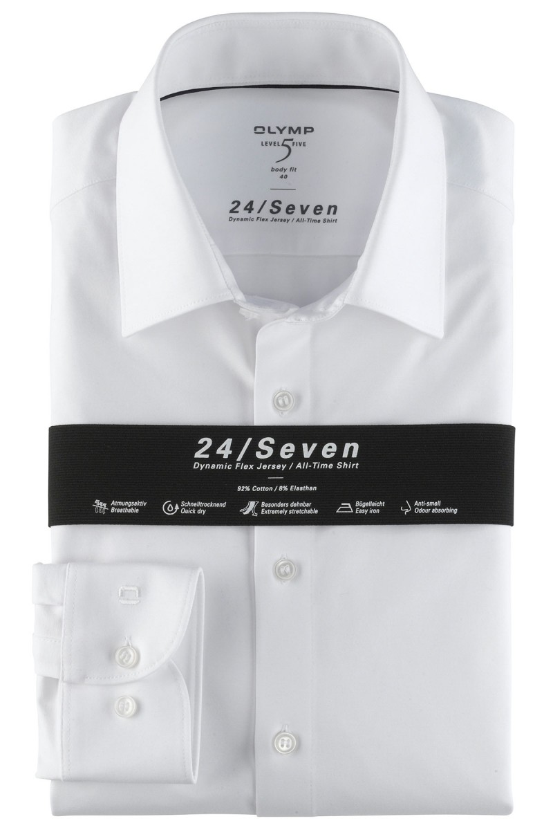 OLYMP 24/Seven Level Five body fit Jersey Hemd New York Kent weiß