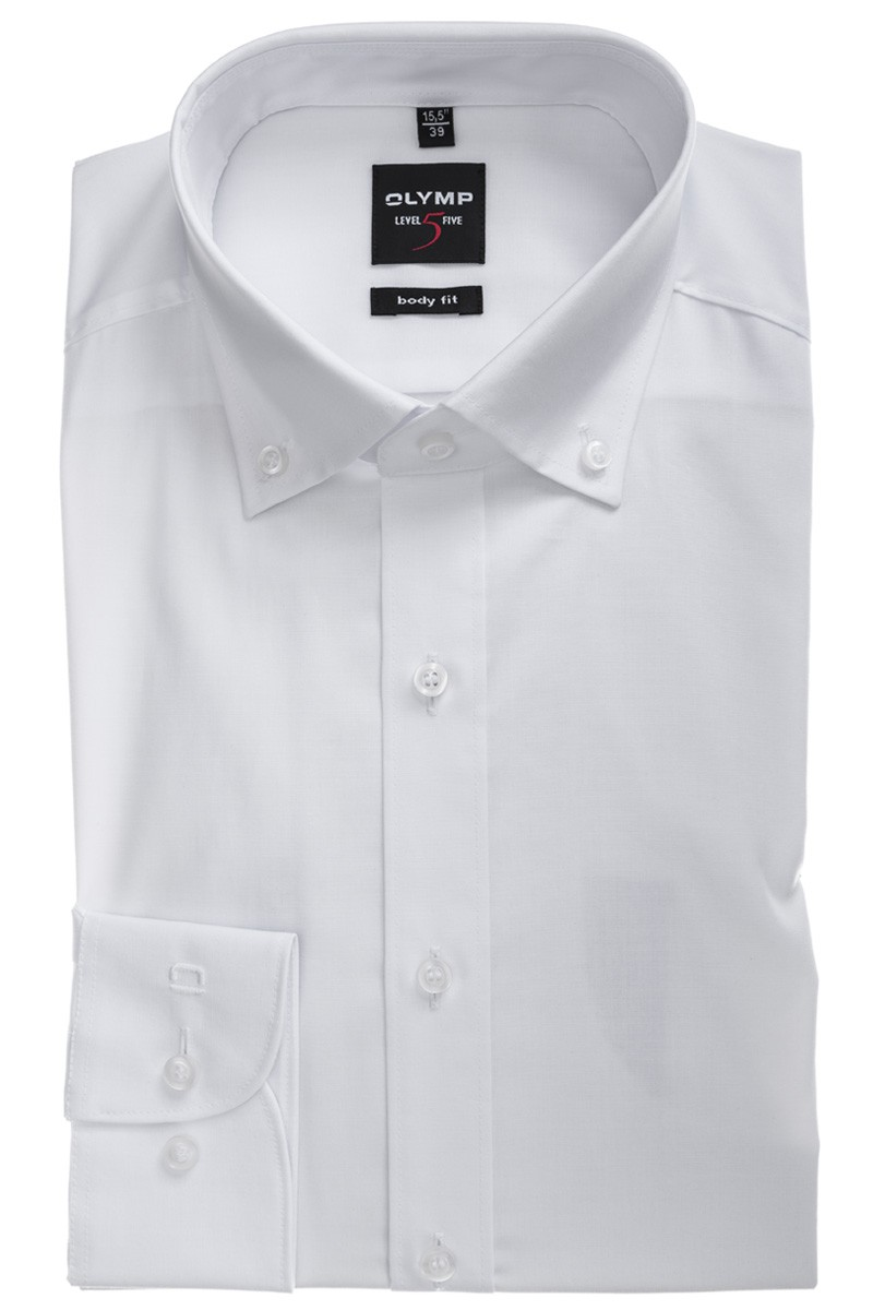 OLYMP Level Five body fit Hemd Button-Down weiß