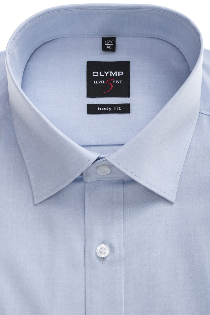 OLYMP Level Five body fit Hemd New York Kent Chambray bleu
