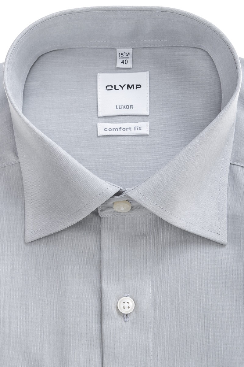 OLYMP Luxor comfort fit Hemd New Kent Chambray silbergrau