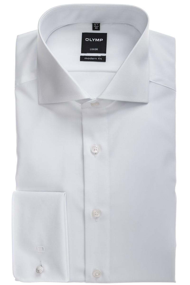 olymp olymp luxor modern fit hemd haifisch mit umschlagmanschette wei 033365. Black Bedroom Furniture Sets. Home Design Ideas