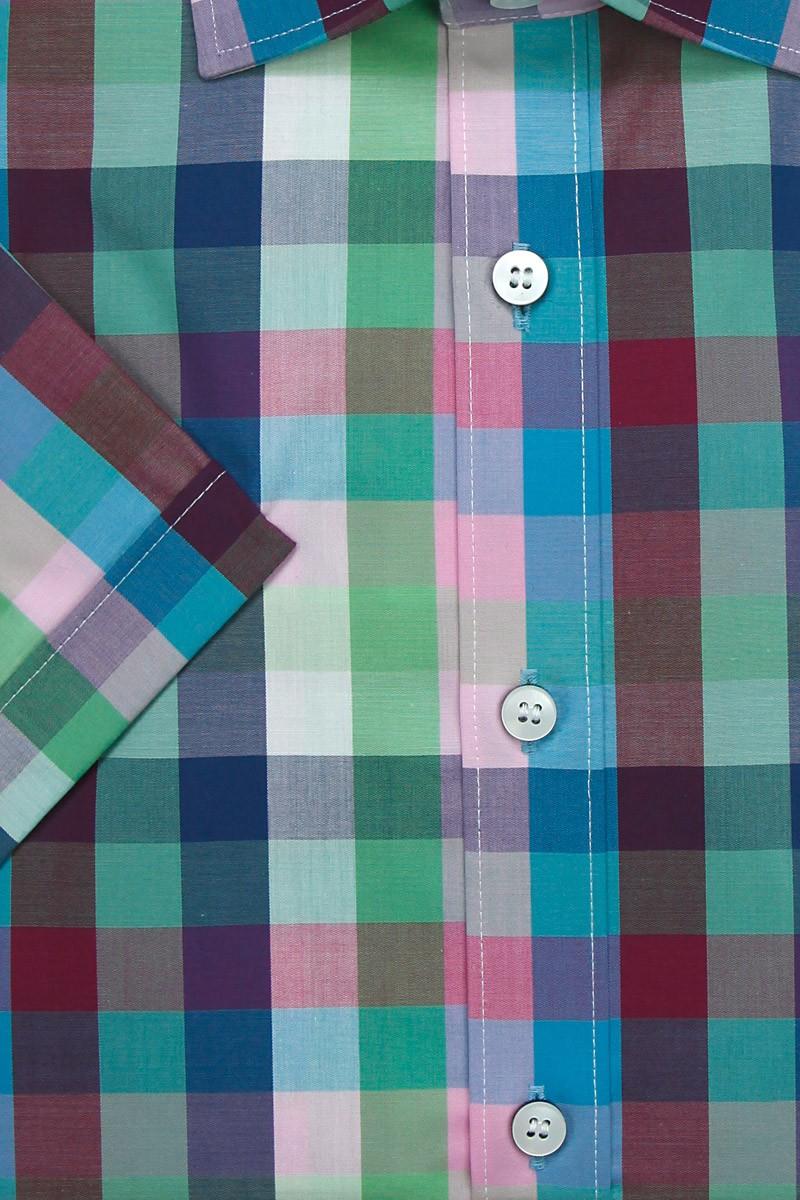 olymp level five body fit kurzarm hemd under button down karo bunt. Black Bedroom Furniture Sets. Home Design Ideas