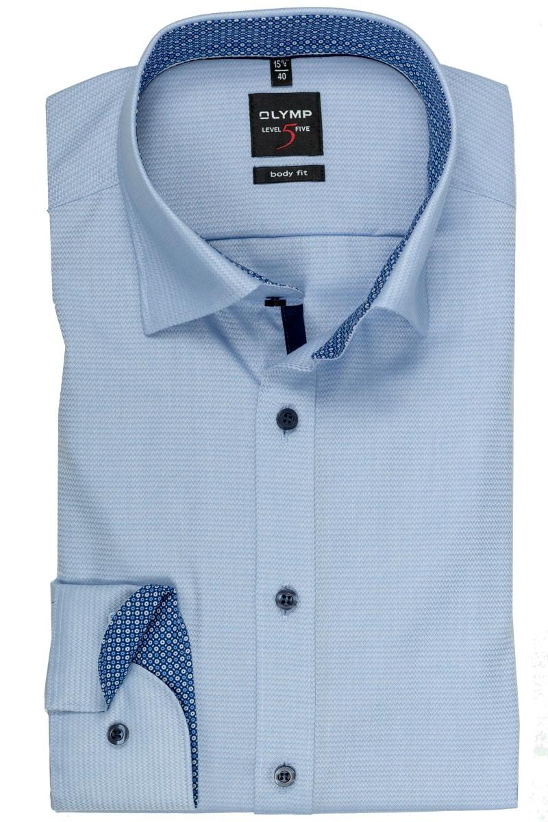 86889a2c Olymp OLYMP Level Five body fit Hemd Under Button-Down Molekül Patch ...