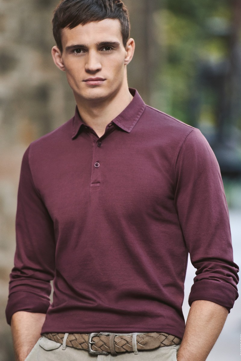 OLYMP Level Five Polo Langarm body fit Jersey chianti
