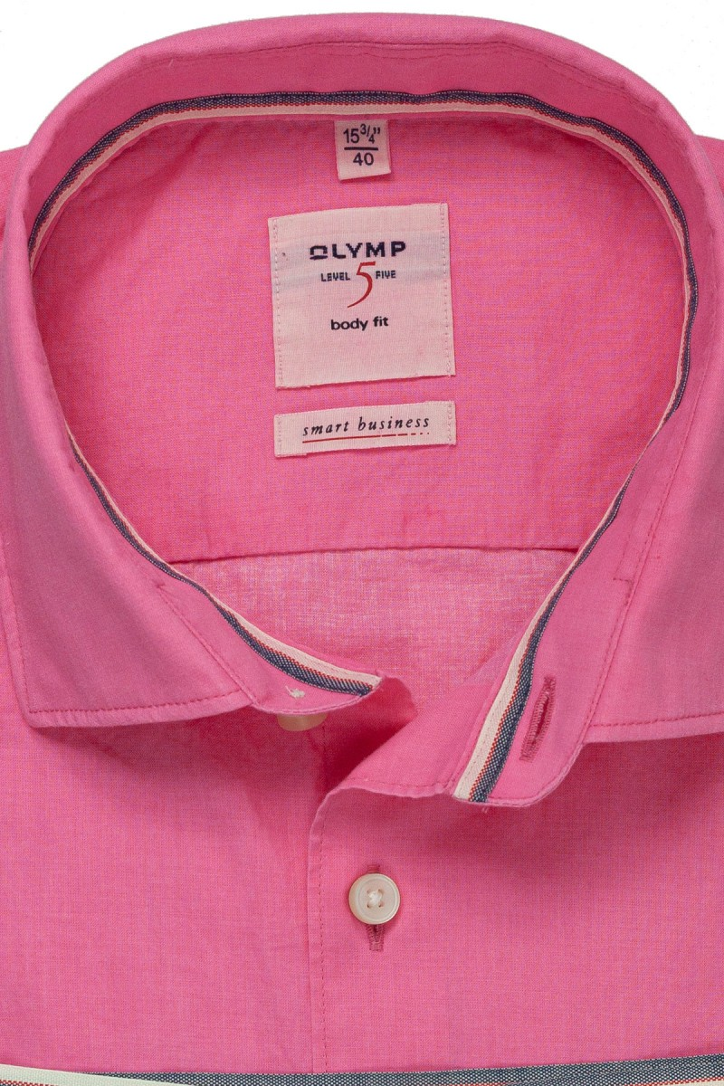 OLYMP Level Five smart business body fit Hemd Kent Washer fuchsia