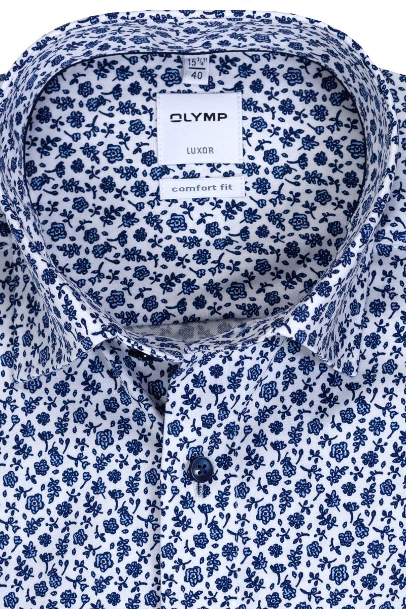 OLYMP Luxor comfort fit Hemd Under Button-Down Blütezeit weiß-dark sky