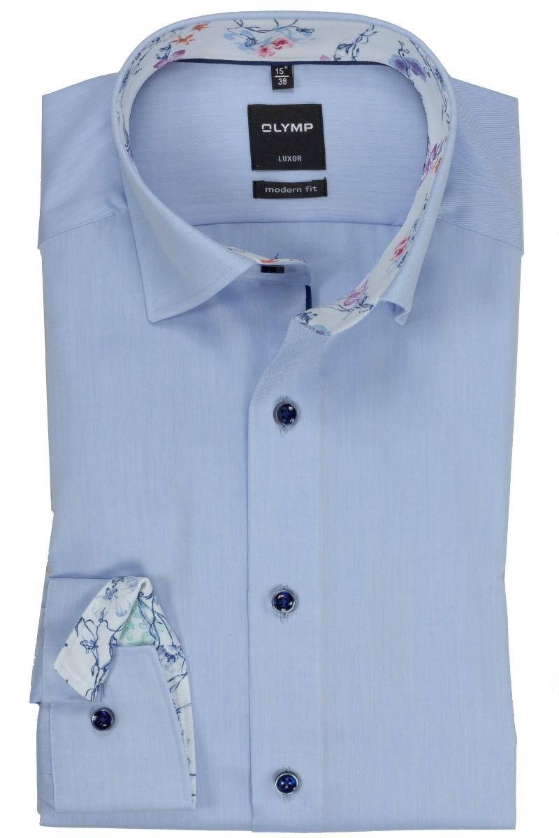 olymp luxor modern fit hemd under button down mandele patch bleu. Black Bedroom Furniture Sets. Home Design Ideas