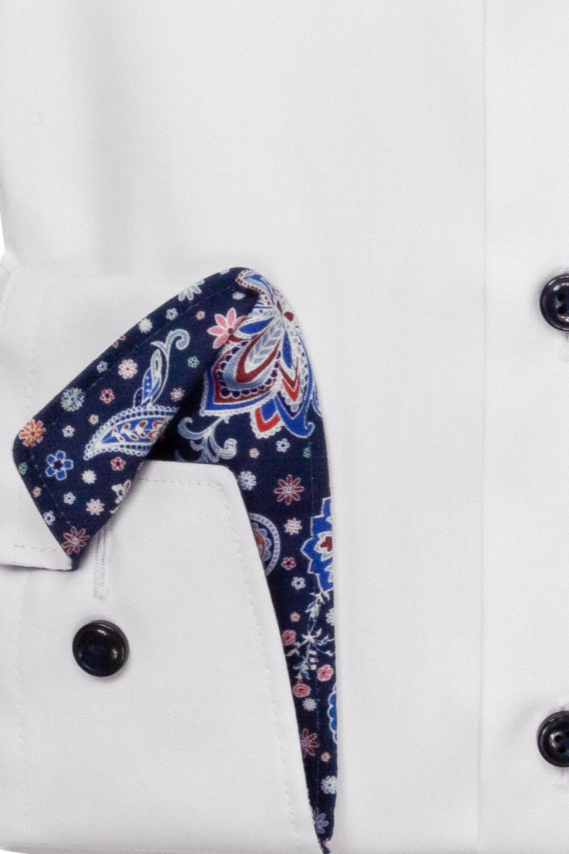 OLYMP Luxor modern fit Hemd Under Button-Down Paisley Patch weiß