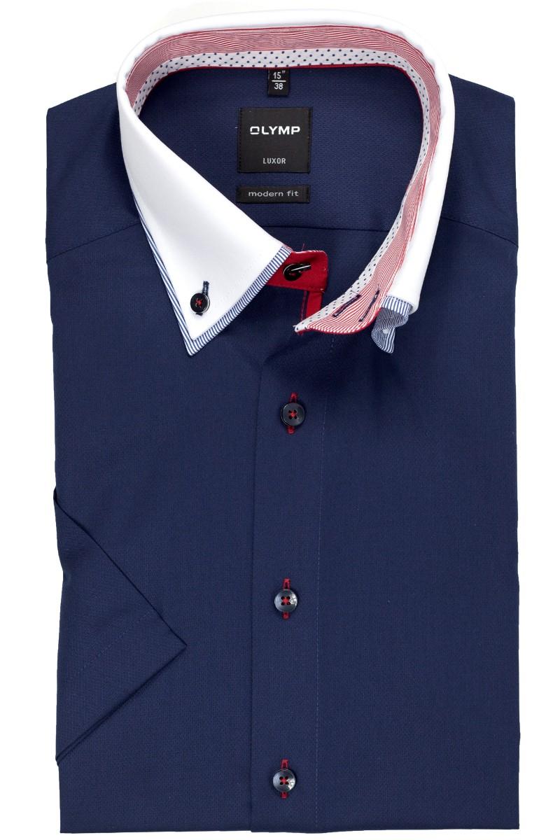olymp luxor modern fit kurzarm hemd doppelkragen button. Black Bedroom Furniture Sets. Home Design Ideas