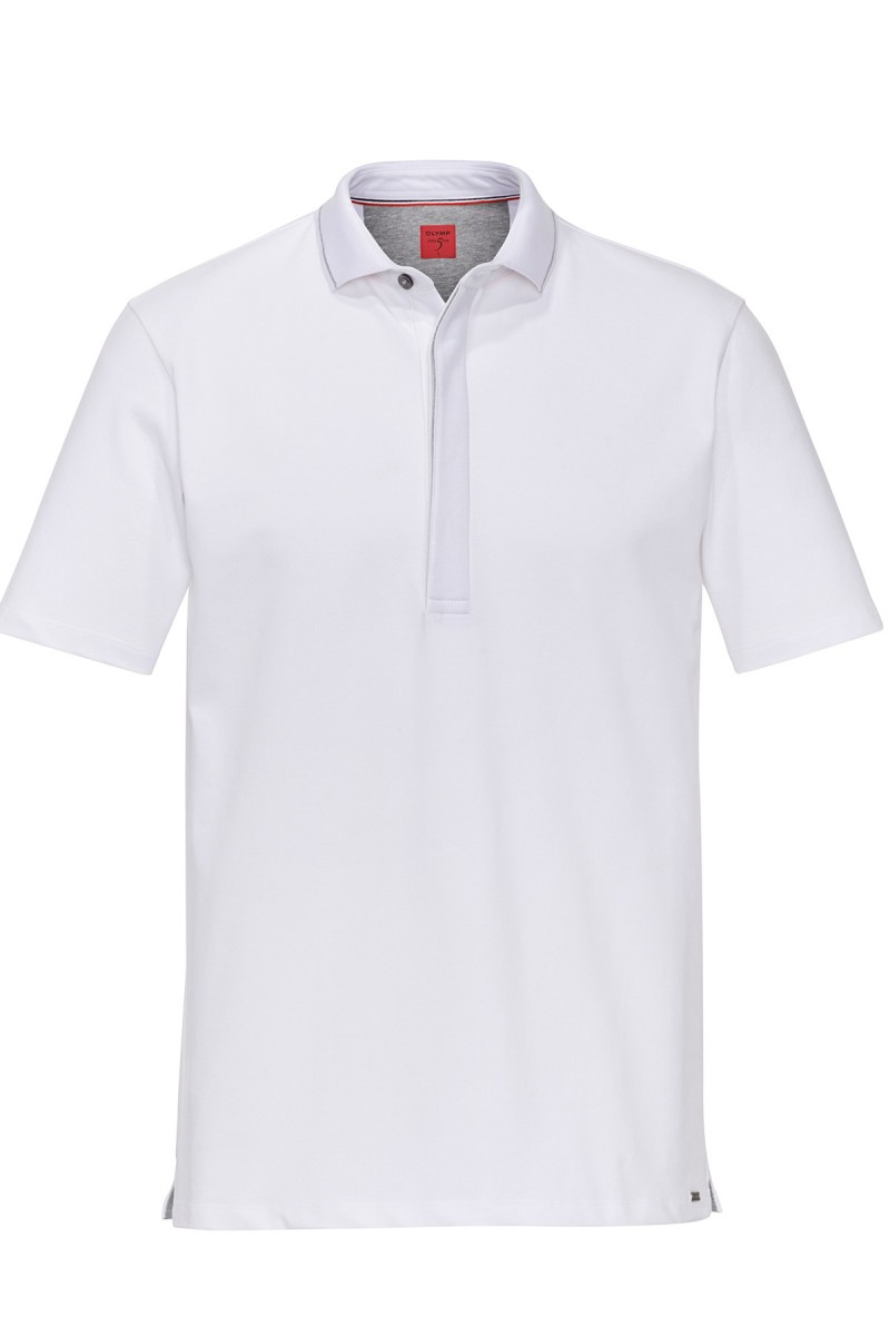 OLYMP Polo modern fit Jersey Funktion weiß