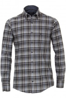 CASAMODA Casual casual fit Hemd Button-Down Flächenkaro anthrazit-bleu