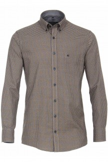 CASAMODA Casual Hemd comfort fit Button-Down Quadrat Muster mais-marine