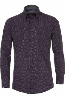 CASAMODA Casual comfort fit Hemd Under Button-Down Kreise weinrot-marine