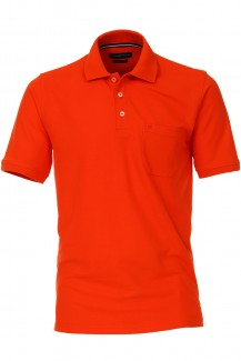 CASAMODA Polo modern fit Pique orange rot