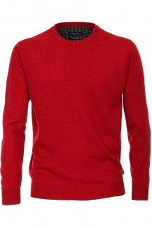 CASAMODA Strick modern fit Pullover Rundhals Cashmere Feeling rot