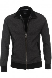 CASAMODA Sweat modern fit Jacke Struktur anthrazit