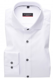 Eterna Cover Shirt modern fit Haifisch weiß