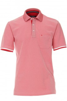 CASAMODA Funktion Polo modern fit Struktur hibiscus