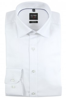 OLYMP Level Five body fit Hemd Under Button-Down Natté weiß