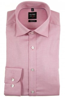 OLYMP Level Five body fit Hemd Under Button-Down Natté rose