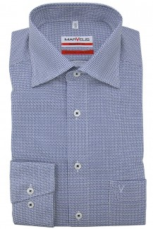 Marvelis modern fit Hemd New Kent Striche royal