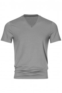 Mey Club Shirt V-Neck COOLMAX light grey melange