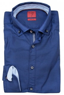 OLYMP Level Five Casual body fit Hemd Button-Down jeansblau