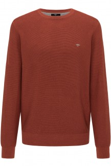 FYNCH-HATTON Strick casual fit Pullover Rundhals Struktur superfine Baumwolle toskana