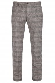 Alberto Chino Rob Soft Check slim fit braun-camel