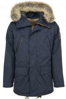 NO EXCESS modern fit Outdoor Parka night