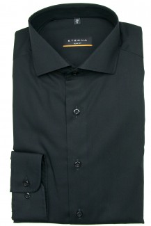 Eterna Hemd slim fit Stretch Global Kent Chambray schwarz