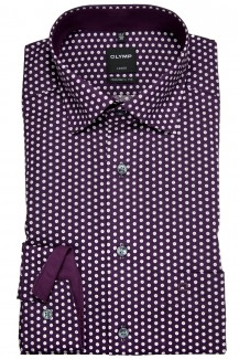 OLYMP Luxor modern fit Hemd Under Button-Down floraler Druck plum