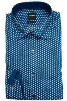 OLYMP Luxor modern fit Hemd Under Button-Down floraler Druck nautik