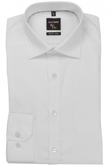OLYMP No. Six super slim Hemd Under Button-Down weiß